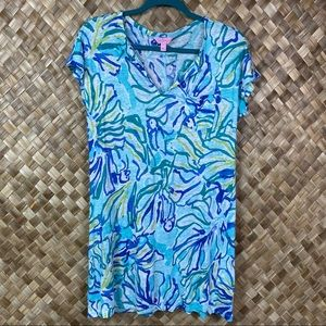 Lilly Pulitzer Small Linen Stay Cool T-shirt Dress